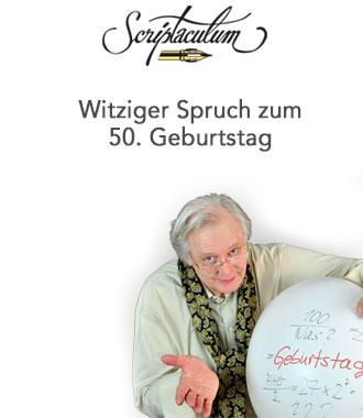 Lustiges Gedicht Zum 50. Geburtstag
