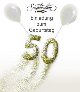 Der 50. Geburtstag Ist Gefühlt Der Wichtigste. Alles Beginnt Mit Einer  Tollen Einladung Und Schönen Einladungskarten Zur Feier. Man Fühlt Sich  Angekommen Im ...